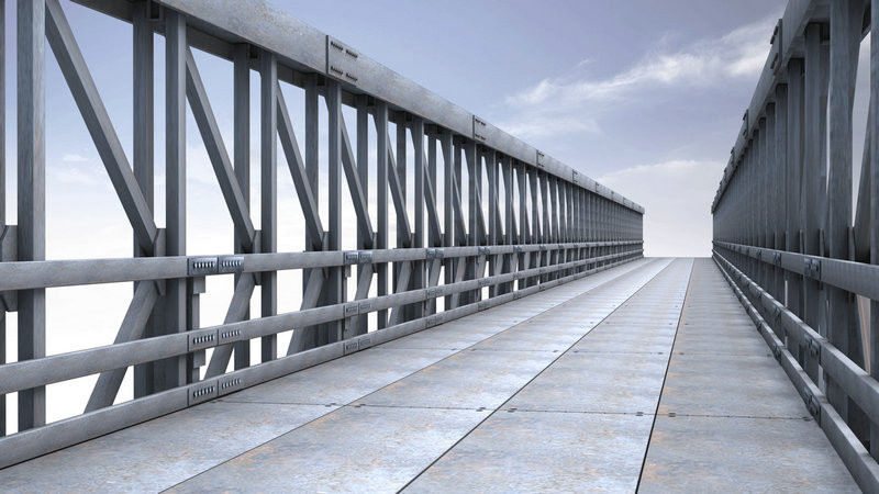 4.2m Single Lane Modular Steel Bridge / Truss Assembly Steel Bridges
