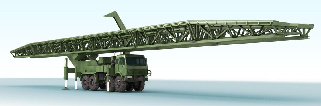 51m Large - Span Mechanized Bridge / Emergency Bridge With Flexibility, Simple Structure