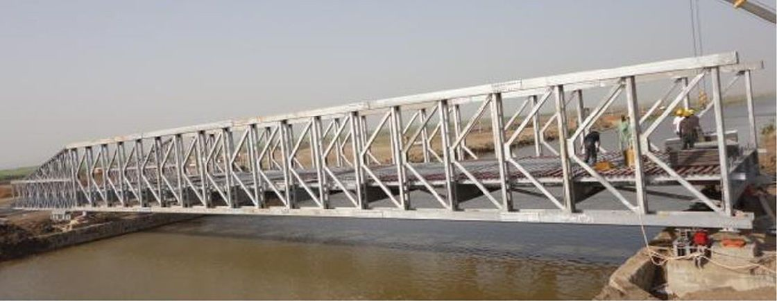 Custom Permanent Steel Structure Bridge Steel Deck With Good Stability